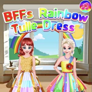 Free Game Bffs Rainbow Tulle Dress