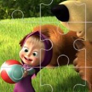Free Game Masha and the Bear Jigsaw
